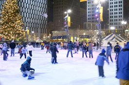 Campus Martius Ice Rink -- clwphotography